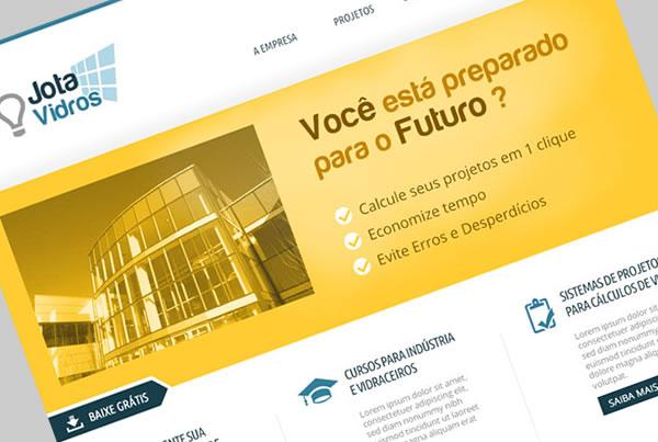 Desenvolvimento de Site+Blog para Empresa Jota Vidros
