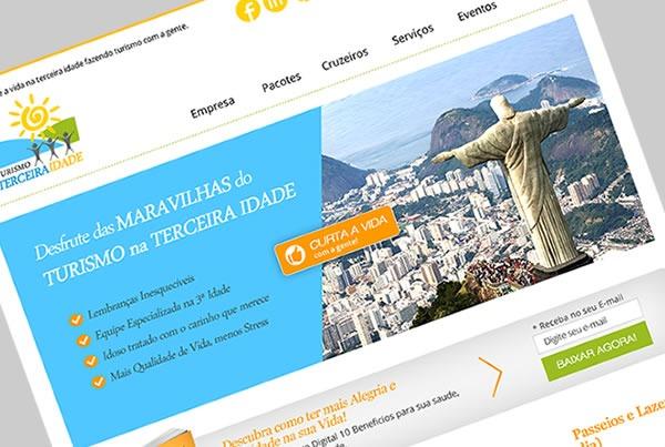 Desenvolvimento de Site+Blog para Empresa Turismo na 3ª Idade